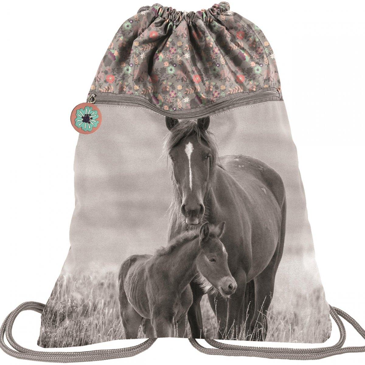 Duzy Worek W Konie Dla Dziewczyny Na Obuwie Buty Kapcie 2 Komorowy Pp20ko 713 Iplecaki Pl