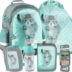 Duży Plecak Szkolny z Kotkiem Kotem dla Nastolatki [RLC-116]