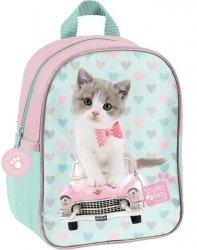 Plecak na Wycieczki do Przedszkola Plecaczek z Kotem dla Dziewczynki [PET-303]