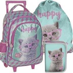 Plecak z Kółkami do Szkoły Komplet w Koty [PTF-1221]