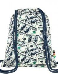 Duży Worek jak Plecak Młodzieżowy Dolary St.Right [SO11 Dollars]