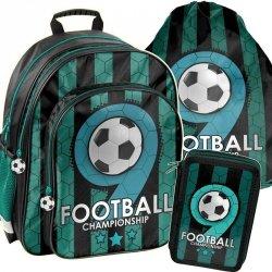 Plecak Szkolny dla Chłopaka z Piłką Nożną Komfortowy [PP19F-090]