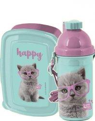 Śniadaniówka Bidon Kot Kotek dla Dziewczynki [PTF-3022]