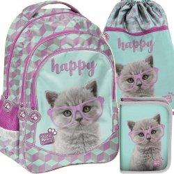 Plecak Kot Kotki Szkolny dla Dziewczyny Komplet [PTF-181]
