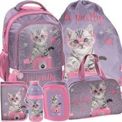 Plecak do Szkoły Kotek w Okularach Komplet [PTG-260]