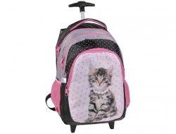 Plecak na Kółkach z Kotkiem Kot Kotek Szkolny dla Dziewczyny [RHD-997]