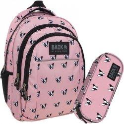 Plecak BackUp Młodzieżowy Szkolny Zestaw Pieski [PLB1H17]