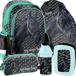 Plecak do Szkoły dla Dziewczyny w Konie Komplet [PP19KN-081]