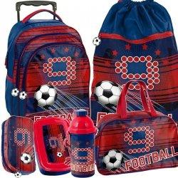 Plecak na Kółkach dla Chłopca Piłka Nożna Szkolny [PP19FT-300]
