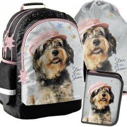 Plecak Szkolny z Pieskiem w Czapce Dziewczęcy [RLF-116]