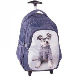 Plecak na Kółkach Pies z Pieskiem Szkolny Niebieski [RHO-997]
