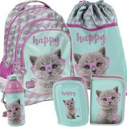 Plecak z Kotkiem Kotek Szkolny dla Dziewczynki Zestaw [PTF-181]