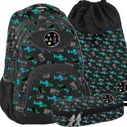 Plecak dla Chłopaka Młodzieżowy Ciemny Maui Sons [PPME19-2708]