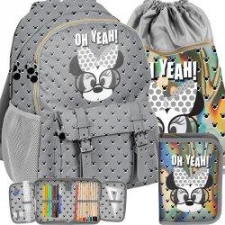 Szary Plecak Szkolny Myszka Minnie Mini dla Dziewczyny [DMMI-810]