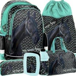 Nowatorski Plecak dla Dziewczynki Szkolny Konik Koń Komlet [PP19KN-081]