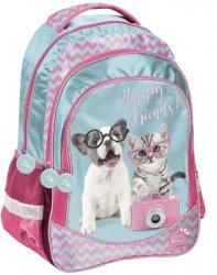 Plecak z Kotkiem Pieskiem Szkolny dla Dziewczynki [PTK-181]