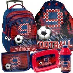 Plecak z Kołami dla Chłopaka Piłka Nożna Szkolny [PP19FT-300]
