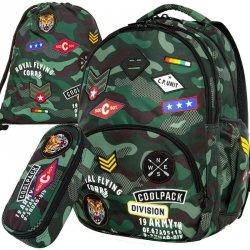 Plecak CoolPack CP MORO Młodzieżowy Zestaw Green [A16110]