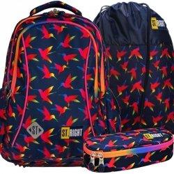 Młodzieżowy Plecak St.Right Dziewczęcy Rainbow Birds [BP26]