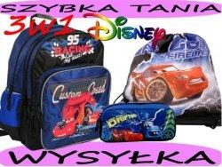 Zestaw Szkolny 3w1 : plecak+piórnik+worek gimnastyczny Auta, Zygzak, Cars