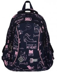 Plecak Młodzieżowy St.Right dla Dziewczyny z Kotkami Kotkiem [BP26]
