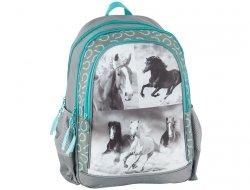 Plecak Szkolny z Koniem Końmi dla Dziewczyny 17-081H