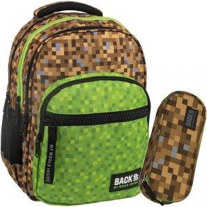 Duży Plecak Minecraft Młodzieżowy BackUP Szkolny [PLB2M39]
