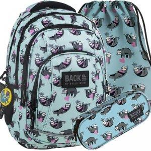 Plecak Leniwce Młodzieżowy BackUP Szkolny Komplet  [PLB2A06]