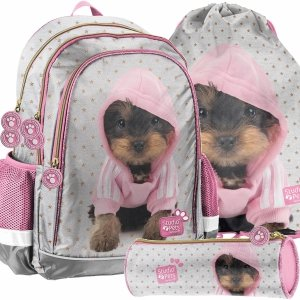 Dziewczęcy Szkolny Plecak York Szary Różowy Paso [PTJ-081]