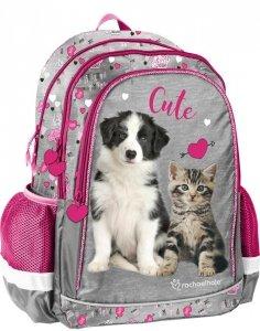 Plecak dla Dziewczynki Szkolny Pies i Kot Paso [RLE-081]