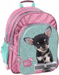 Plecak Szkolny z Pieskiem Chihuahua dla Dziewczynki [PTE-090]