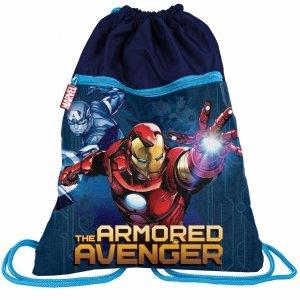Worek jak Plecak na Sznurkach z 2 Komorami Avengers [AIN-713]