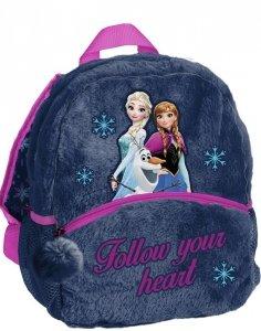 Dziewczęcy Pluszowy Plecak do Przedszkola Plecaczek Kraina Lodu [DOF-305]