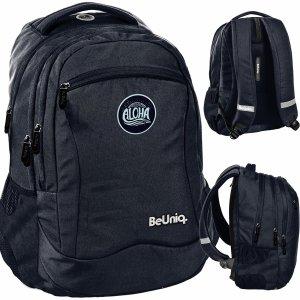 Czarny Plecak dla Młodzieży Aloha Szkolny BeUniq Paso [PPAL20-2808]