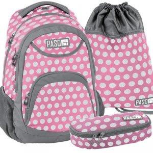 Plecak Młodzieżowy Szkolny Różowy Zestaw [18-2708PI/16]