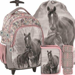 Plecak z Kółkami Szkolny dla Dziewczynki Konie [PP20KO-997]