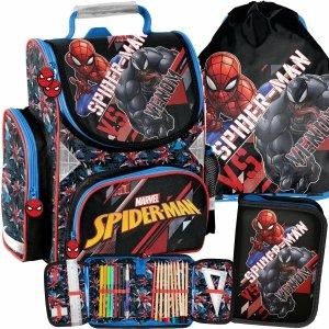 Venom Tornister dla Chłopaków do 1 Klasy Spiderman [SPX-525]