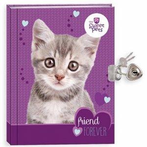Pamiętnik z Kotkiem Kot dla Dziewczynki Twarda Okładka [605420]