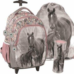 Plecak z Konikiem na Kółkach w Konie Szkolny Dziewczęcy [PP20KO-997]