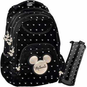 Plecak dla Dziewczyny Myszka Mini Minnie Czarny Paso [DIBL-2708]