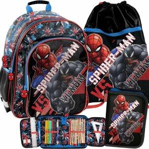 Venom Spider Man Chłopięcy Plecak do Szkoły do 1 klasy [SPX-090]