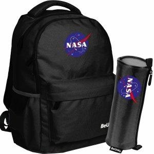 Czarny Plecak Nasa BeUniq Szkolny dla Chłopaków [NASA21-2705]