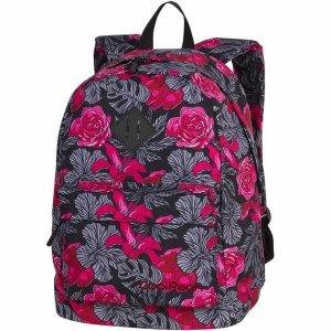 Plecak CoolPack CP Młodzieżowy Szkolny Red & Black Flowers [86387CP]