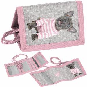 Portfel dla Dziewczynek z Pieskiem Buldog Portfelik dla Dziecka [PTP-002]