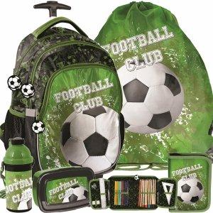 Piłka Nożna Plecak na Kółkach z Piłką Szkolny dla Chłopaka [PP20FO-997]
