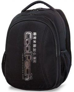 Czarny Plecak CoolPack Cp Młodzieżowy SILVER z Napisem [A22118]