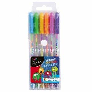 Zapachowe Długopisy Żelowe Tęczowe 6 Kolorów Kidea [DZZ6KA]