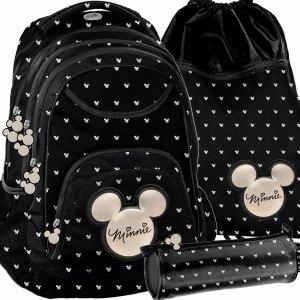 Plecak dla Nastolatki Myszka Mini Minnie Czarny Paso [DIBL-2708]