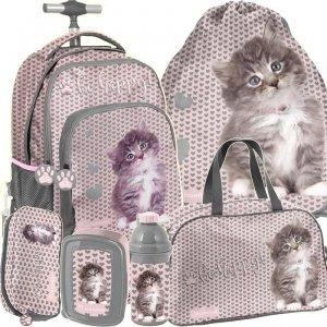 Plecak na Kółkach Dziewczęcy z Kotkiem Kotkami [RLD-887]