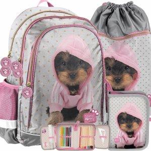 Plecak dla Dziewczynki Uczennicy z Pieskiem York Paso [PTJ-081]